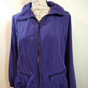 Chico's Zenergy Jacket Purple Windbreaker LIKE NEW